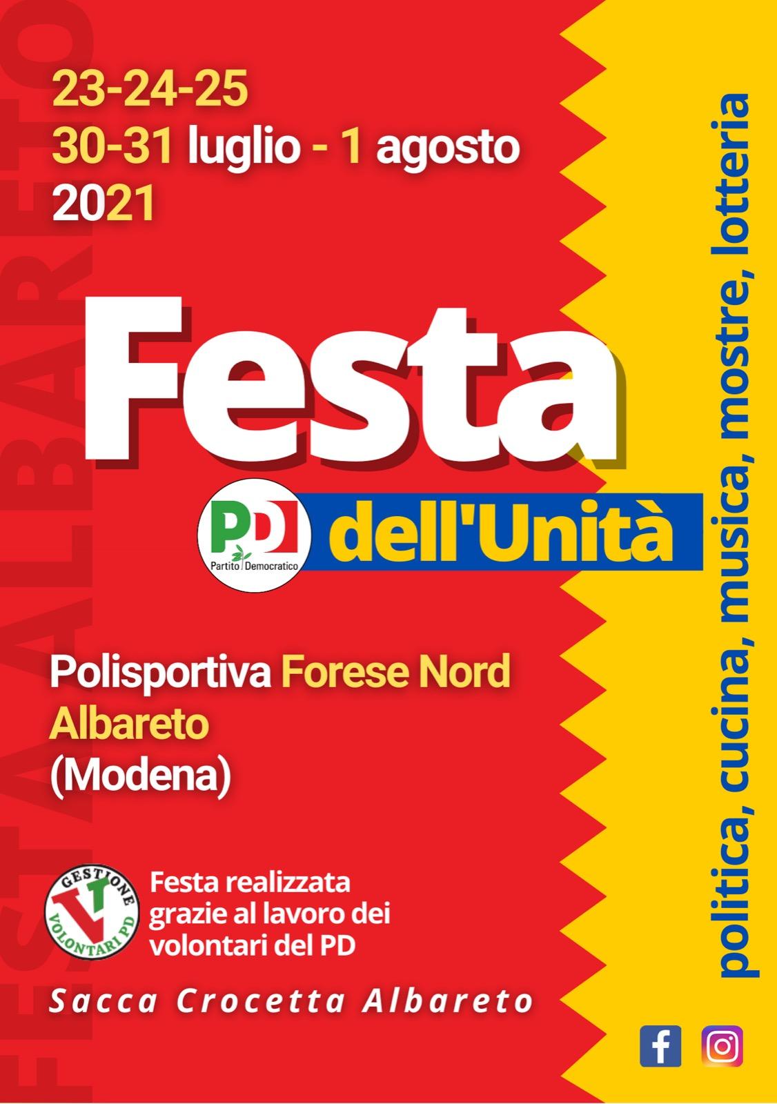 La Festa dell'Unità ad Albareto